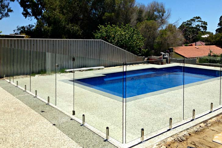 Image result for glass pool fencing
